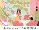 vector illustration of a happy... | Shutterstock .eps vector #1657330354
