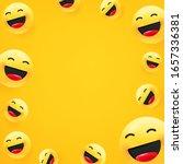laughing emoji. social media... | Shutterstock .eps vector #1657336381