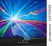 car speed motion abstract... | Shutterstock .eps vector #165733955
