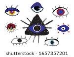 occult mystical emblem. evil... | Shutterstock .eps vector #1657357201