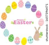 easter egg hand drawn... | Shutterstock .eps vector #1657396471