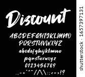 best alphabet discount brush...   Shutterstock .eps vector #1657397131