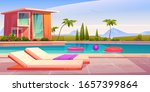 house and swimming pool with...   Shutterstock .eps vector #1657399864