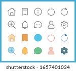 app web ui line icon set and...