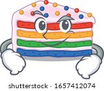 cool rainbow cake mascot... | Shutterstock .eps vector #1657412074