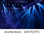 vector stage spotlight with... | Shutterstock . vector #165741971