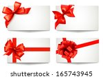 set of beautiful gift cards... | Shutterstock . vector #165743945