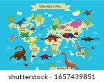 cartoon dinosaurs with names on ... | Shutterstock .eps vector #1657439851