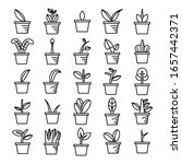 plant in pot and tree icons  | Shutterstock .eps vector #1657442371