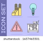 set diesel power generator ... | Shutterstock .eps vector #1657465501