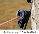 Electric Fence Outdoors Close Up