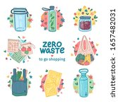 zero waste takeaway kit design. ... | Shutterstock .eps vector #1657482031