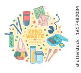zero waste takeaway kit design. ... | Shutterstock .eps vector #1657482034