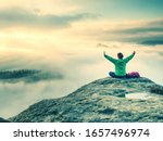 Hippie Woman Welcomes Daybreak...