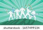five medical staff in... | Shutterstock .eps vector #1657499134