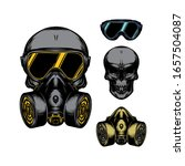 Skull In Gas Mask Illustration. ...