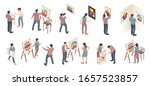 isometric exhibition art... | Shutterstock .eps vector #1657523857