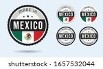 made in mexico. set of labels... | Shutterstock .eps vector #1657532044