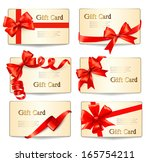 set of beautiful gift cards... | Shutterstock .eps vector #165754211