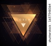 abstract gold luxury triangle... | Shutterstock .eps vector #1657548364