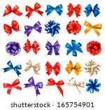 big set of colorful gift bows...