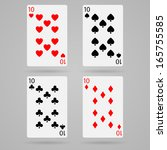 clean vector set of playing... | Shutterstock .eps vector #165755585