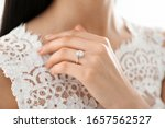 Young Bride Wearing Beautiful...