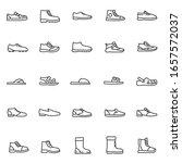 Men's Shoes  Icon Set. Casual...