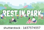 rest in park word concepts flat ... | Shutterstock .eps vector #1657574557