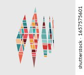 abstract color rhombus... | Shutterstock .eps vector #1657575601