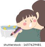 illustration of a kid girl... | Shutterstock .eps vector #1657629481