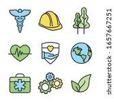 health safety and environment...   Shutterstock .eps vector #1657667251
