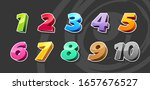 cartoon style 3d numbers with... | Shutterstock .eps vector #1657676527