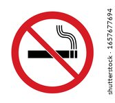 Vector Illustration No Smoking...
