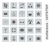 summer sea icons | Shutterstock .eps vector #165767969
