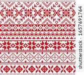 scottish fair isle style... | Shutterstock .eps vector #1657691764