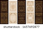 vintage set retro cards.... | Shutterstock .eps vector #1657692877