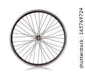 used bicycle wheel with no tire ... | Shutterstock . vector #165769724