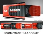 modern business card set | Shutterstock .eps vector #165770039