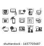 simple set of online education... | Shutterstock .eps vector #1657705687