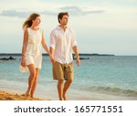 young couple in love ... | Shutterstock . vector #165771551