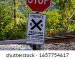 No Trespassing  Railroad...