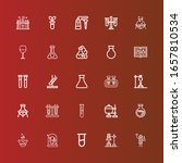 editable 25 beaker icons for... | Shutterstock .eps vector #1657810534
