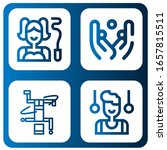 acrobat icon set. collection of ... | Shutterstock .eps vector #1657815511