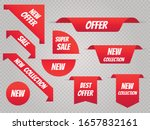 sale banner template set. price ... | Shutterstock .eps vector #1657832161