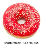Donut Isolated On A White...