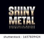 vector shine metal font. silver ... | Shutterstock .eps vector #1657839424