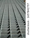 Steel Cage Net Texture Under...