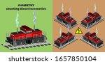 3d Isometric Shunting Four Axl...