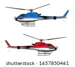 Helicopters Isolated On White...